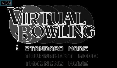Image du menu du jeu Virtual Bowling sur Nintendo Virtual Boy