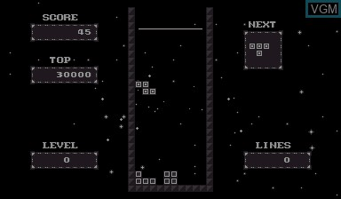 Image in-game du jeu V-Tetris sur Nintendo Virtual Boy