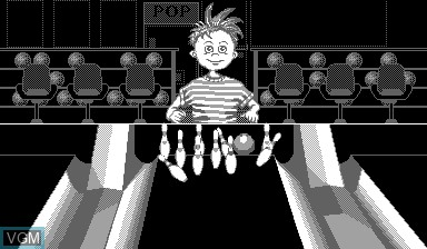 Image in-game du jeu Nester's Funky Bowling sur Nintendo Virtual Boy