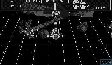 Image in-game du jeu SD Gundam Dimension War sur Nintendo Virtual Boy
