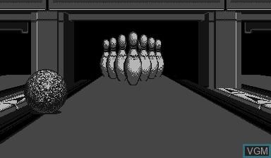 Image in-game du jeu Virtual Bowling sur Nintendo Virtual Boy