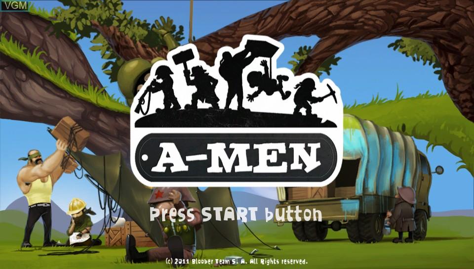 Image de l'ecran titre du jeu A-Men sur Sony PS Vita
