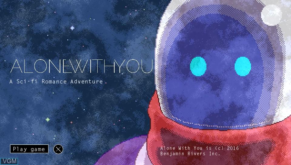 Image de l'ecran titre du jeu Alone With You sur Sony PS Vita