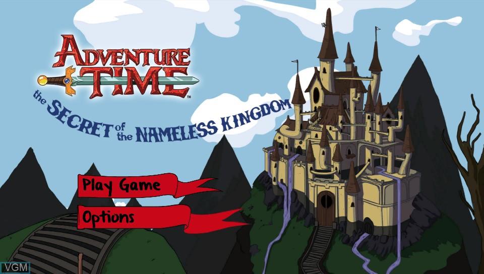 Image de l'ecran titre du jeu Adventure Time - The Secret of the Nameless Kingdom sur Sony PS Vita
