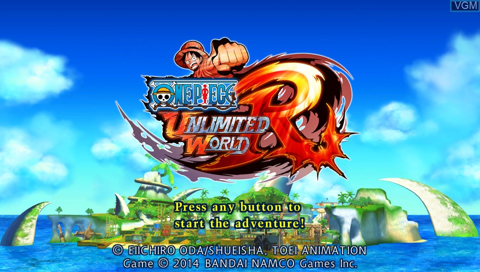 Image de l'ecran titre du jeu One Piece - Unlimited World Red sur Sony PS Vita