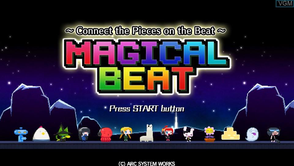 Image de l'ecran titre du jeu Magical Beat sur Sony PS Vita