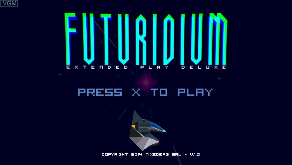 Image de l'ecran titre du jeu Futuridium EP Deluxe sur Sony PS Vita