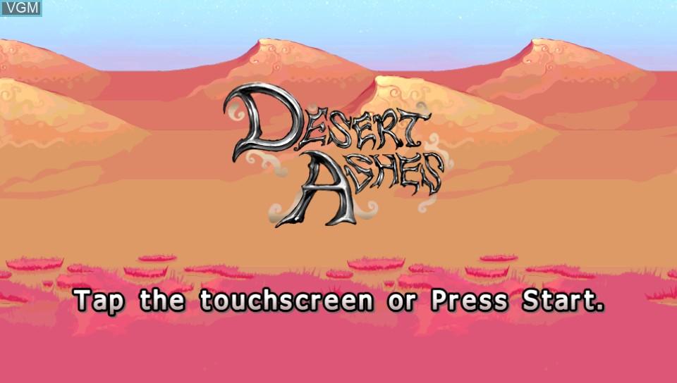 Image de l'ecran titre du jeu Desert Ashes sur Sony PS Vita