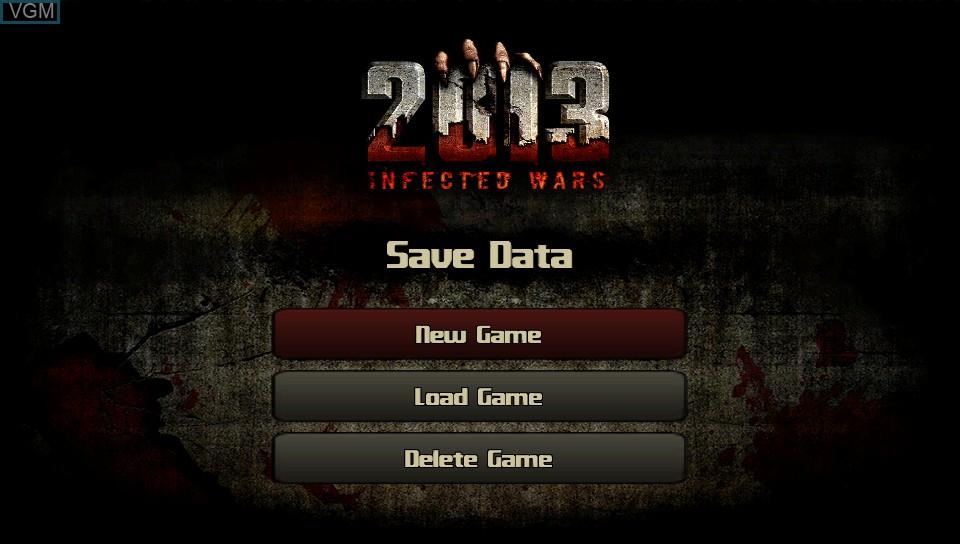 Image de l'ecran titre du jeu 2013 - Infected Wars sur Sony PS Vita
