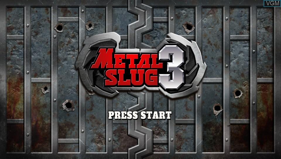 Image de l'ecran titre du jeu Metal Slug 3 sur Sony PS Vita