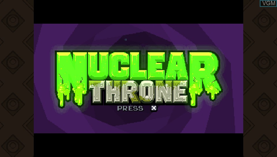 Image de l'ecran titre du jeu Nuclear Throne sur Sony PS Vita