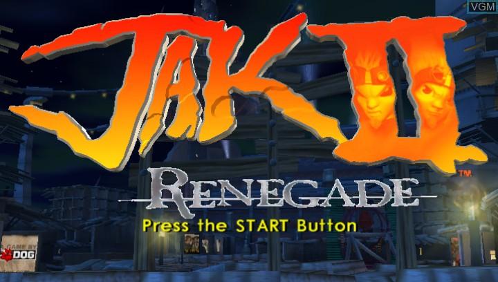 Image de l'ecran titre du jeu Jak II HD sur Sony PS Vita