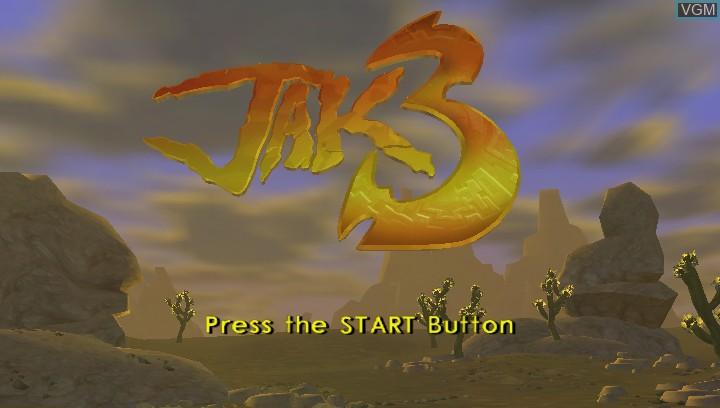 Image de l'ecran titre du jeu Jak 3 HD sur Sony PS Vita