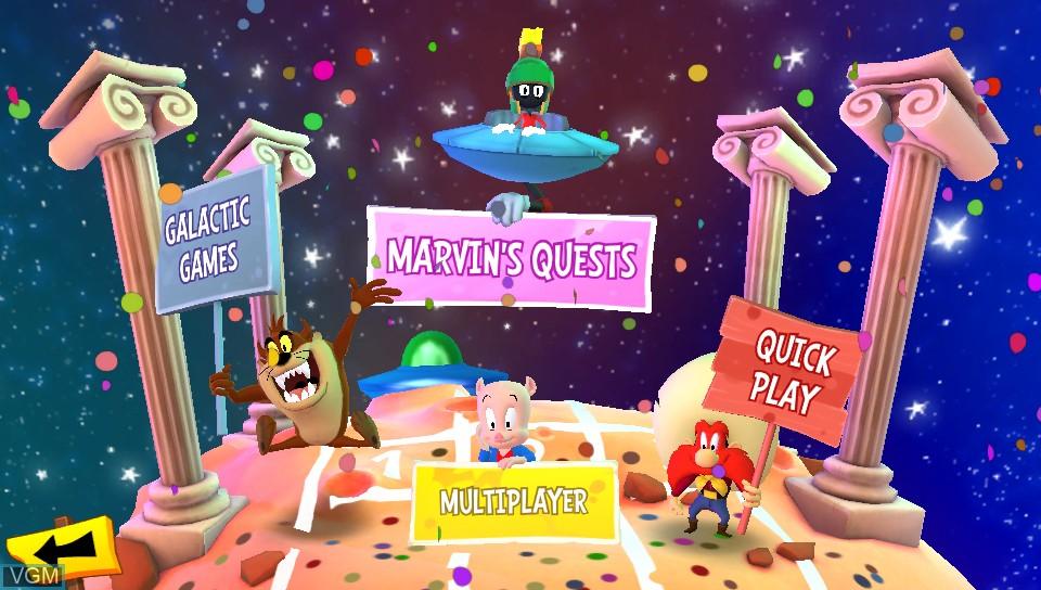 Image de l'ecran titre du jeu Looney Tunes - Galactic Sports sur Sony PS Vita