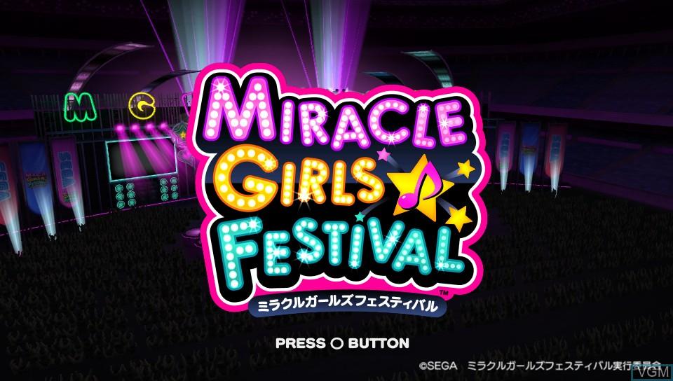 Image de l'ecran titre du jeu Miracle Girls Festival sur Sony PS Vita