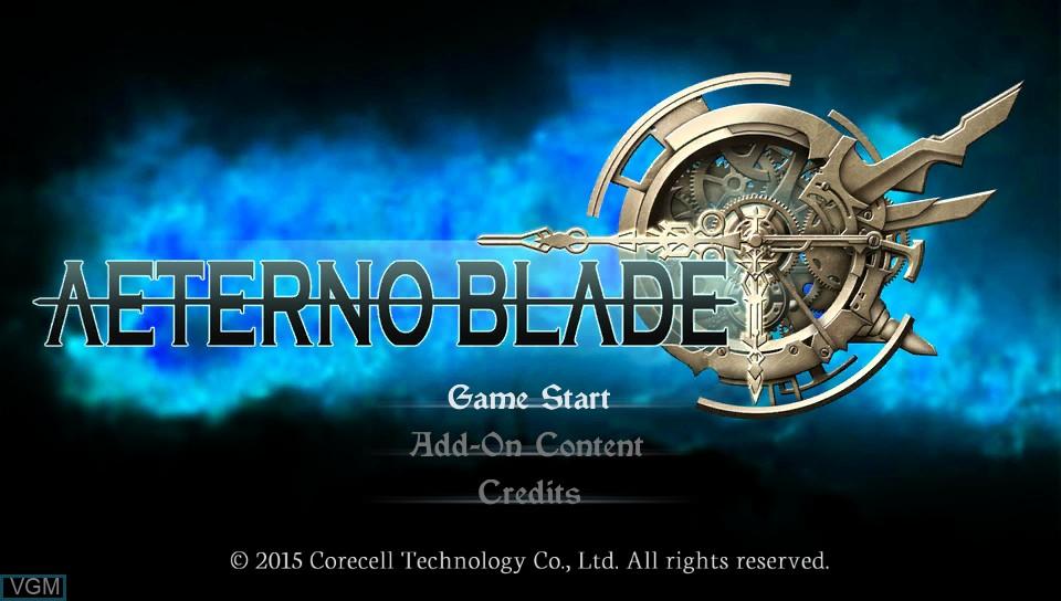 Image de l'ecran titre du jeu AeternoBlade sur Sony PS Vita