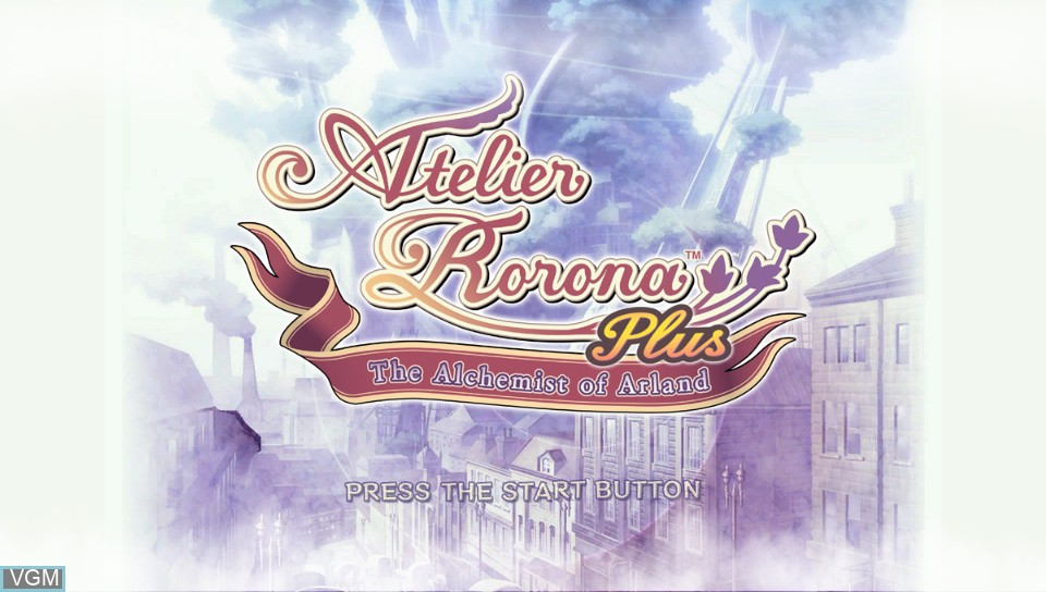 Image de l'ecran titre du jeu Atelier Rorona Plus - The Alchemist of Arland sur Sony PS Vita