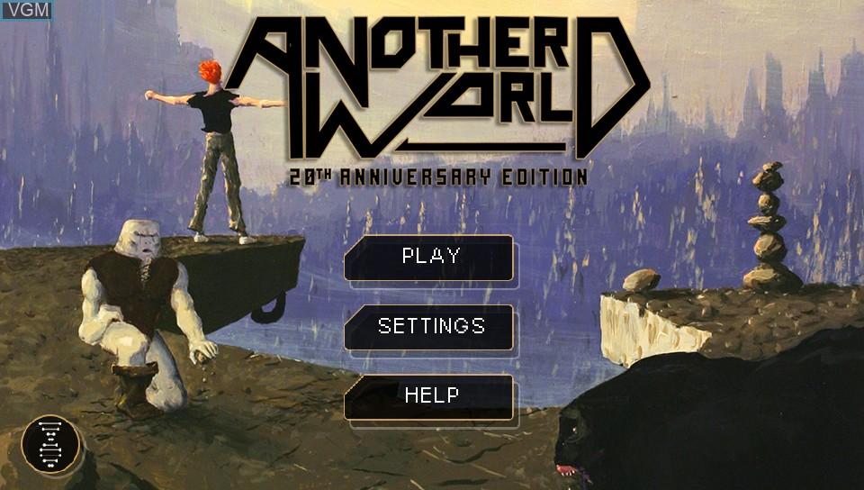 Image de l'ecran titre du jeu Another World - 20th Anniversary Edition sur Sony PS Vita