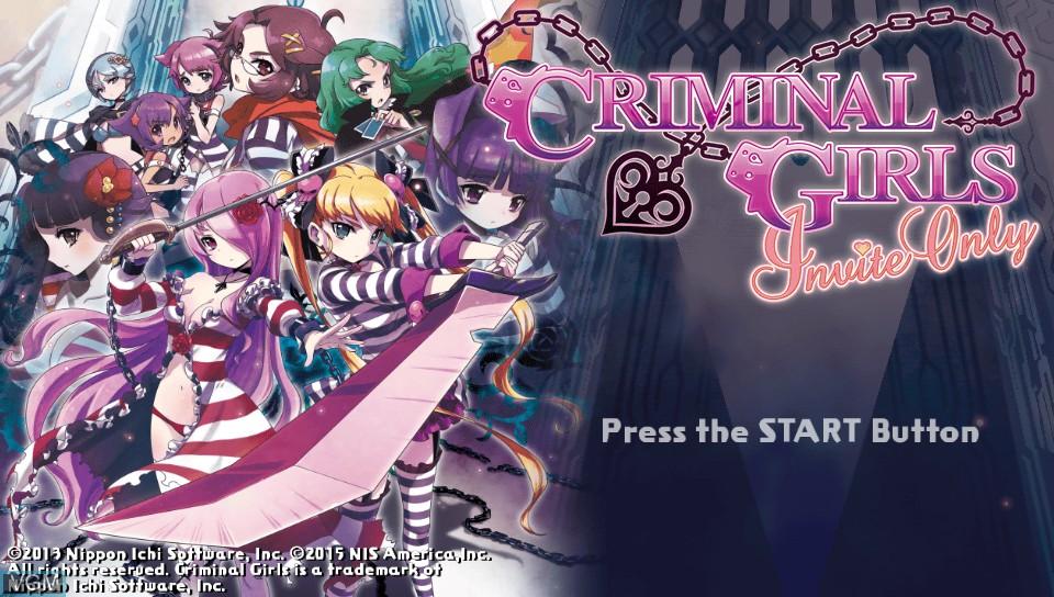 Image de l'ecran titre du jeu Criminal Girls - Invite Only sur Sony PS Vita
