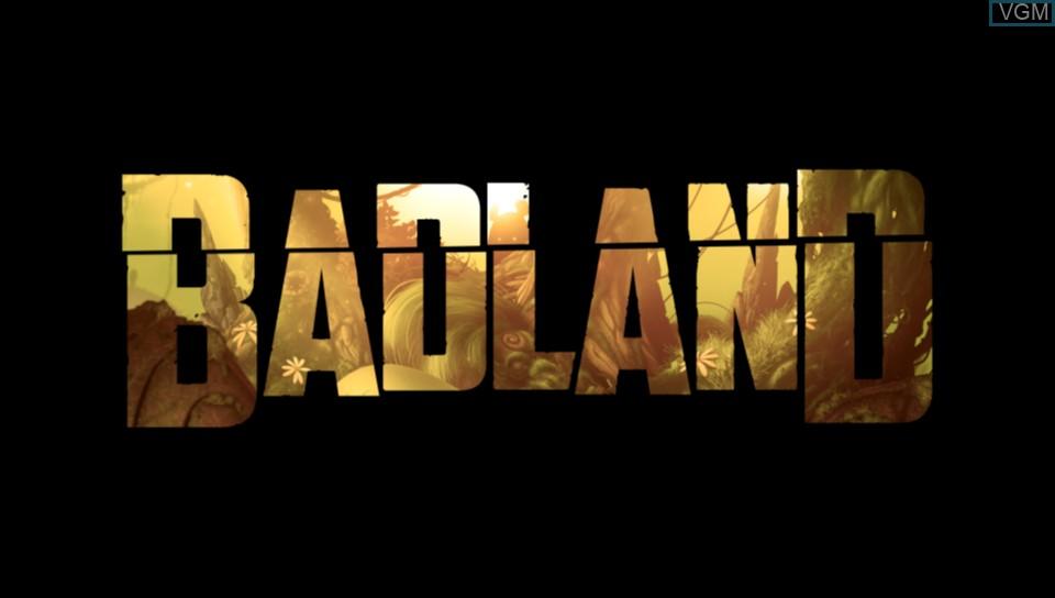 Image de l'ecran titre du jeu BADLAND sur Sony PS Vita