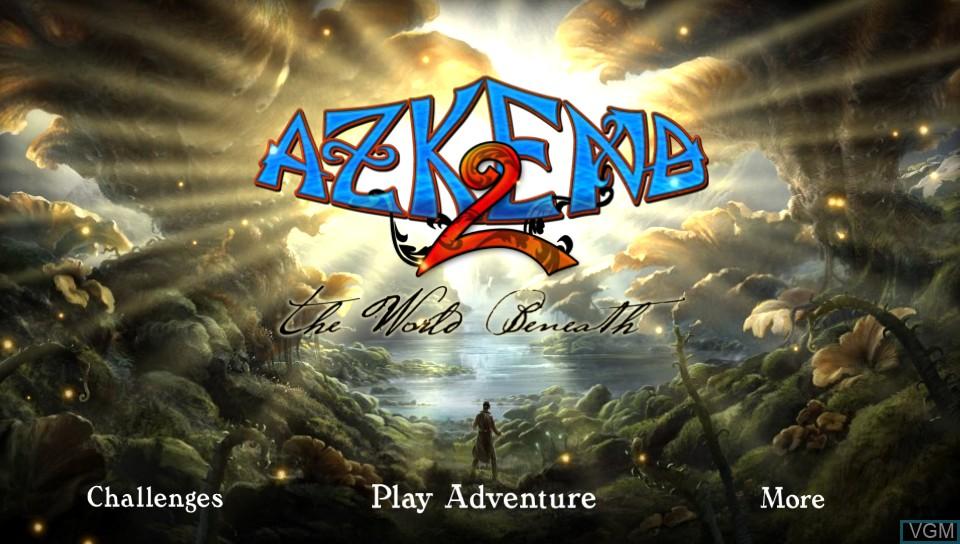 Image de l'ecran titre du jeu Azkend 2 - The World Beneath sur Sony PS Vita