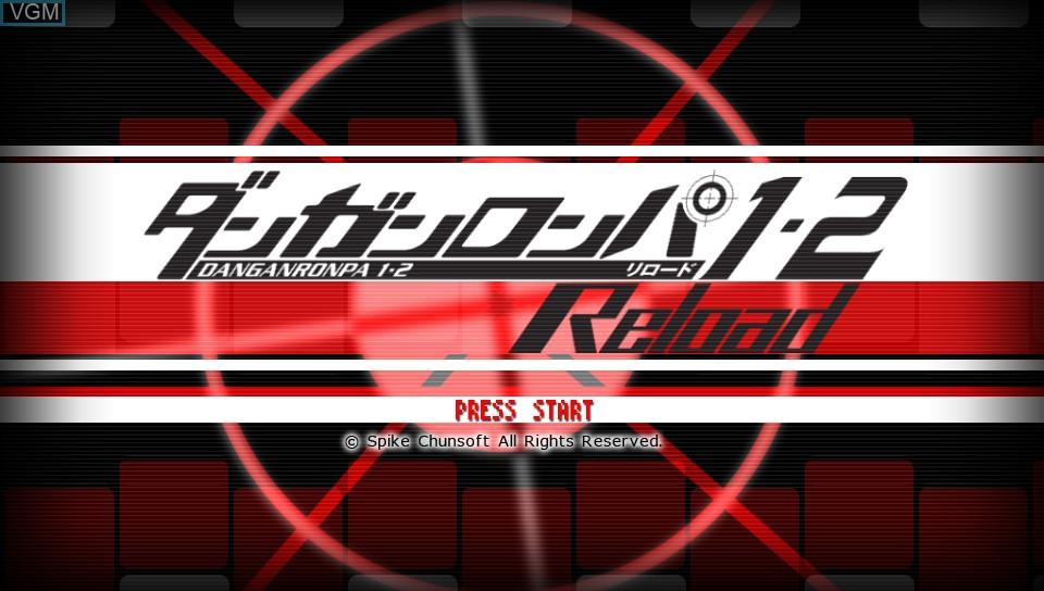 Image de l'ecran titre du jeu Danganronpa 1-2 Reload sur Sony PS Vita