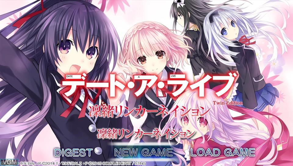 Image de l'ecran titre du jeu Date-A-Live Twin Edition - Rio Reincarnation sur Sony PS Vita