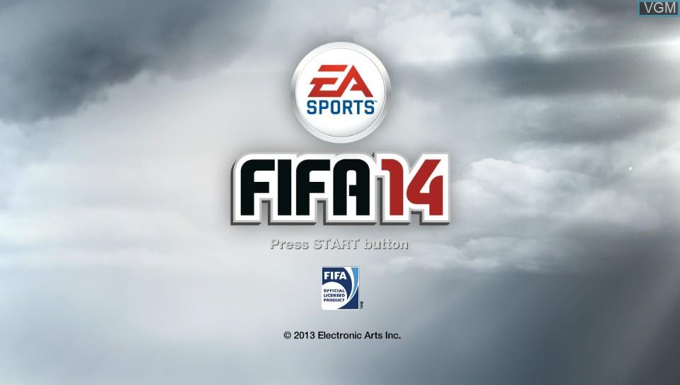Image de l'ecran titre du jeu FIFA 14 sur Sony PS Vita