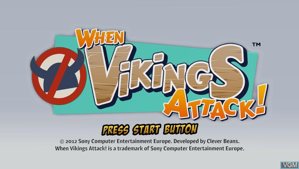 Image de l'ecran titre du jeu When Vikings Attack! sur Sony PS Vita