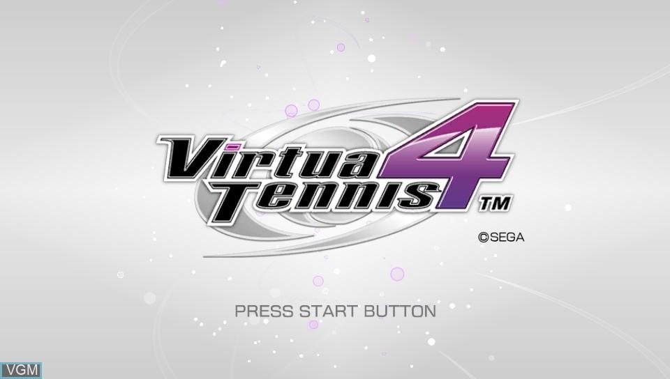 Image de l'ecran titre du jeu Virtua Tennis 4 - World Tour Edition sur Sony PS Vita