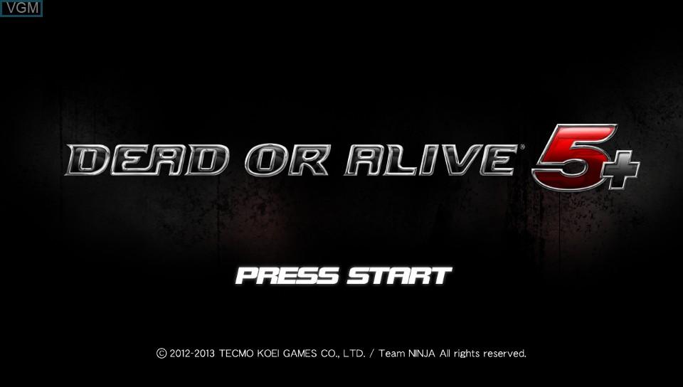 Image de l'ecran titre du jeu Dead or Alive 5 Plus sur Sony PS Vita