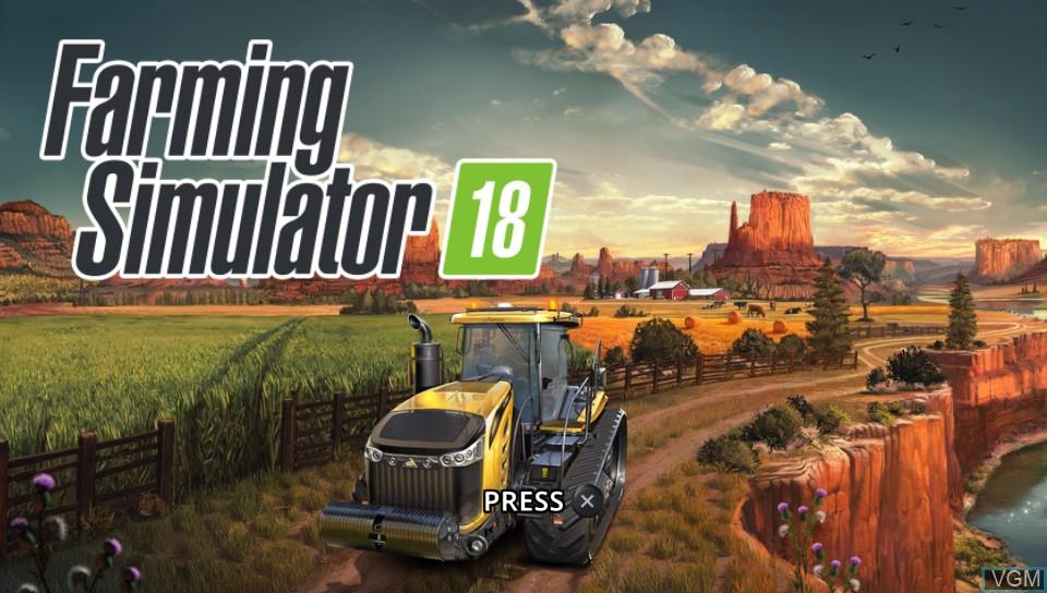 Image de l'ecran titre du jeu Farming Simulator 18 sur Sony PS Vita