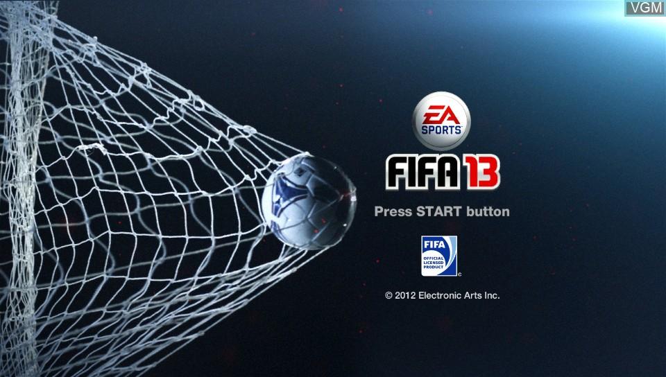 Image de l'ecran titre du jeu FIFA 13 sur Sony PS Vita