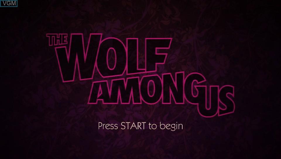 Image de l'ecran titre du jeu Wolf Among Us, The sur Sony PS Vita