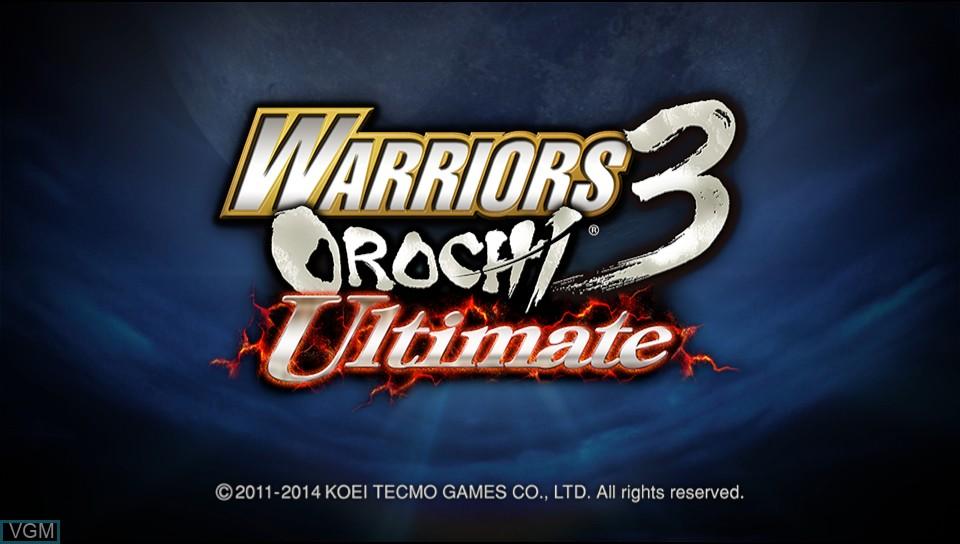 Image de l'ecran titre du jeu Warriors Orochi 3 Ultimate sur Sony PS Vita