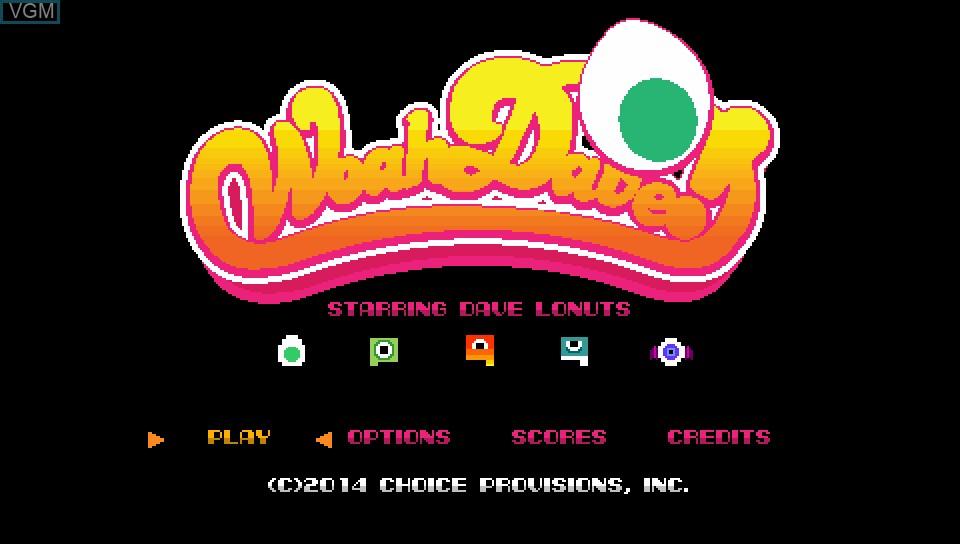 Image de l'ecran titre du jeu Woah Dave! sur Sony PS Vita