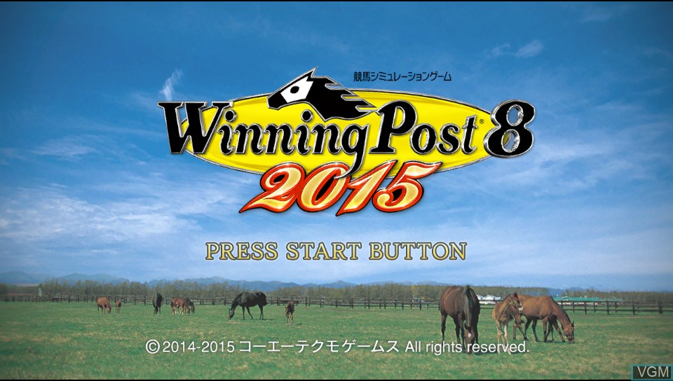 Image de l'ecran titre du jeu Winning Post 8 2015 sur Sony PS Vita