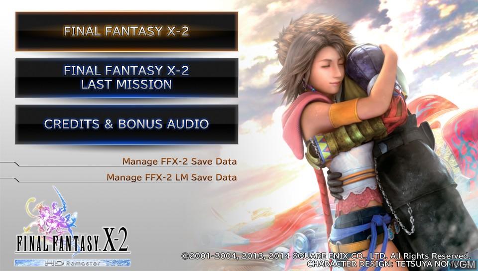 Image de l'ecran titre du jeu Final Fantasy X-2 HD Remaster sur Sony PS Vita