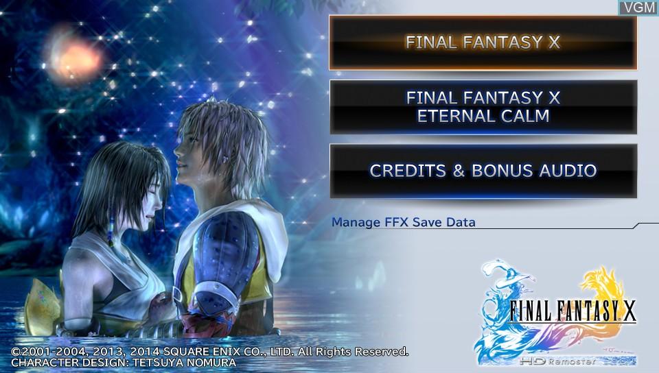 Image de l'ecran titre du jeu Final Fantasy X HD Remaster sur Sony PS Vita