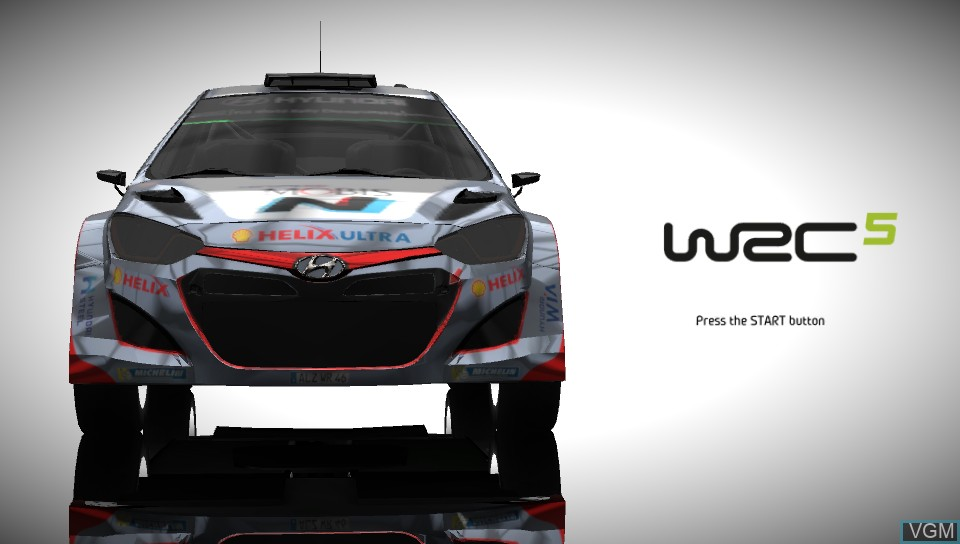 Image de l'ecran titre du jeu WRC 5 - FIA World Rally Championship sur Sony PS Vita