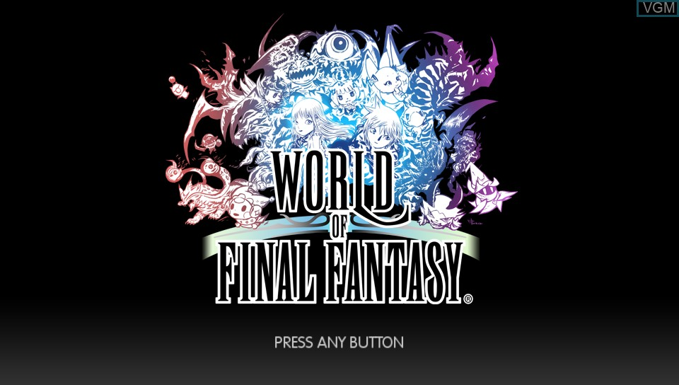 Image de l'ecran titre du jeu World of Final Fantasy sur Sony PS Vita