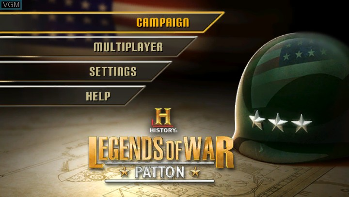 Image de l'ecran titre du jeu History Legends of War - Patton sur Sony PS Vita