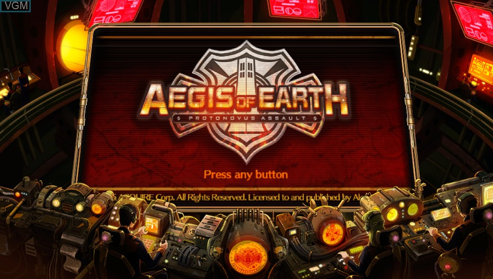 Image de l'ecran titre du jeu Aegis of Earth - Protonovus Assault sur Sony PS Vita