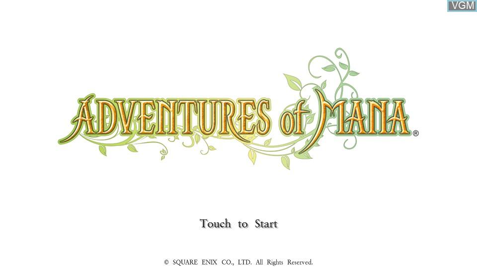 Image de l'ecran titre du jeu Adventures of Mana sur Sony PS Vita