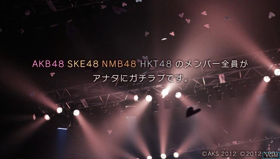 Image de l'ecran titre du jeu AKB1/149 - Renai Sousenkyo sur Sony PS Vita