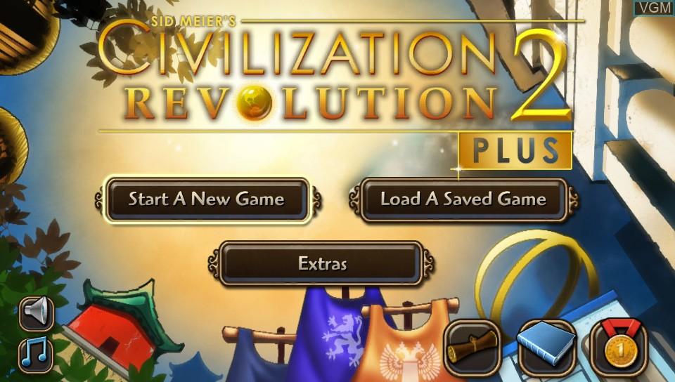Image de l'ecran titre du jeu Sid Meier's Civilization Revolution 2+ sur Sony PS Vita