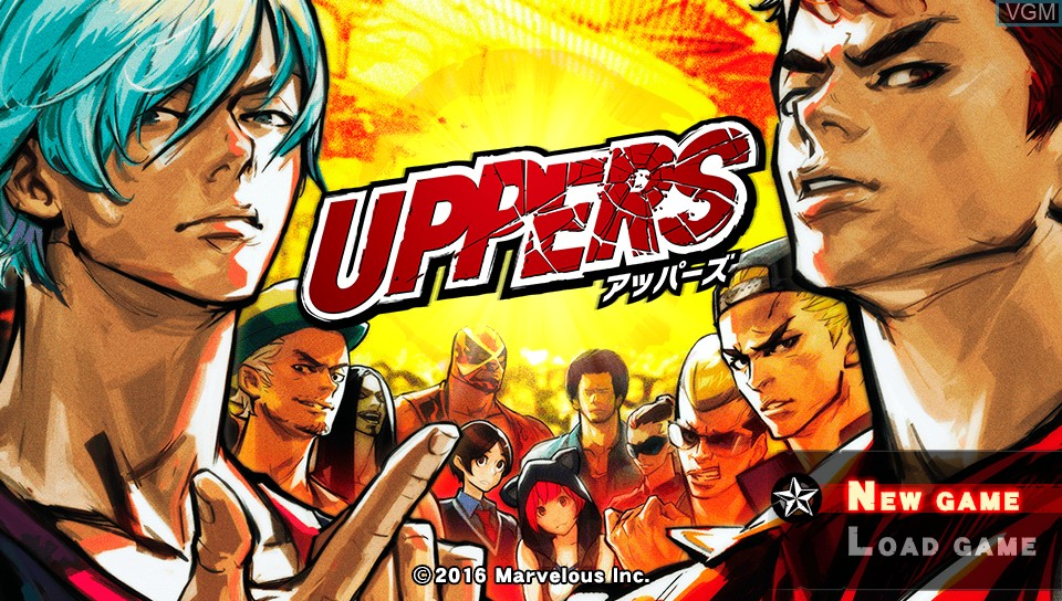 Image de l'ecran titre du jeu Uppers sur Sony PS Vita