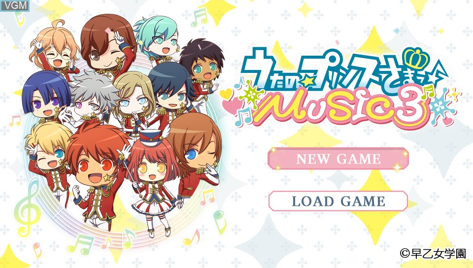 Image de l'ecran titre du jeu Uta no * Prince-Sama - Music 3 sur Sony PS Vita