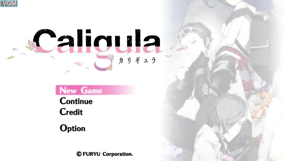 Image de l'ecran titre du jeu Caligula sur Sony PS Vita