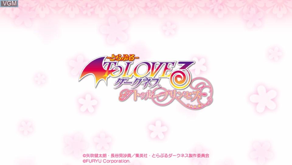Image de l'ecran titre du jeu To Love-Ru Trouble Darkness - True Princess sur Sony PS Vita